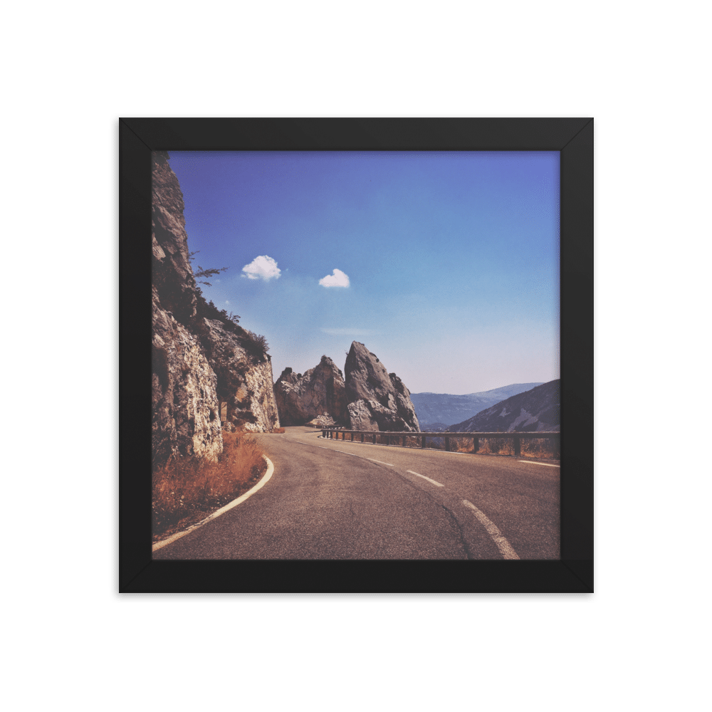 Fluffy clouds Framed photo paper poster